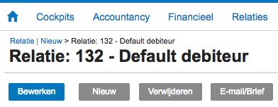 Default debiteur nummer