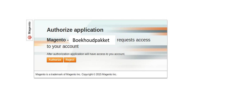 Plaatje activeren OAuth Magento webwinkel