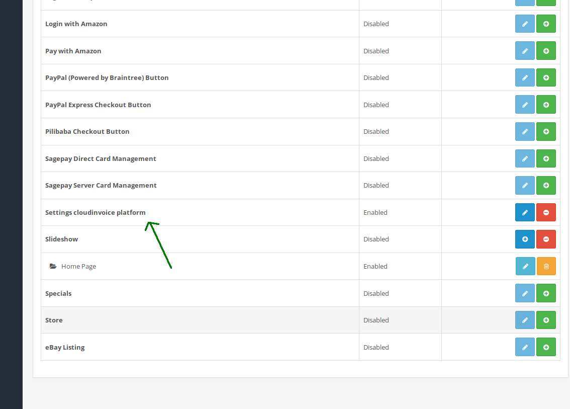 Installatie module OpenCart class=