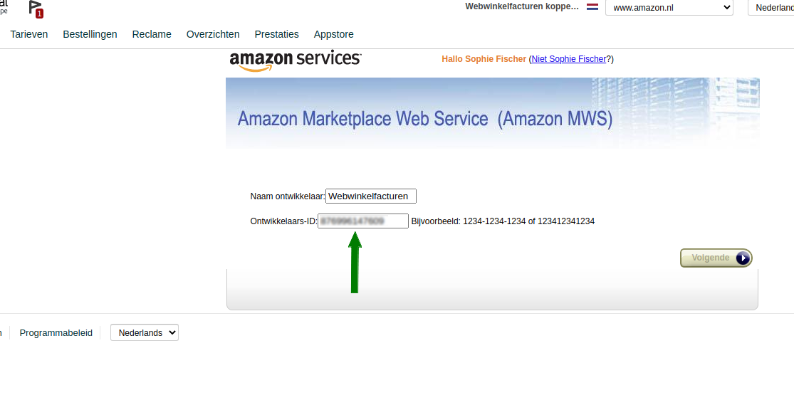 Plaatje Amazon app connectie