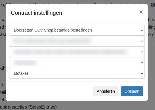 Bestellingen of facturen uit CCV Shop doorzetten
