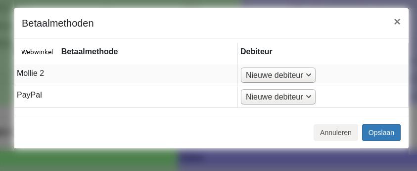 Dashboard Shopify MUIS Software inrichten betaalmethoden