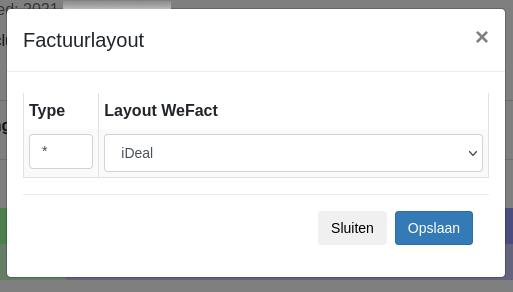 Dashboard Shopify WeFact factuurlayout