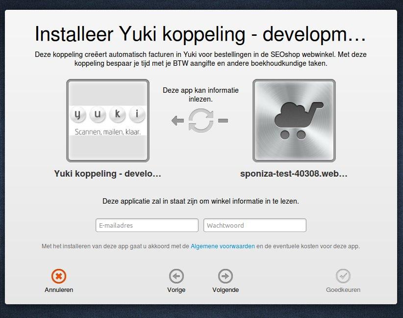 Start activatie Lightspeed - Yuki