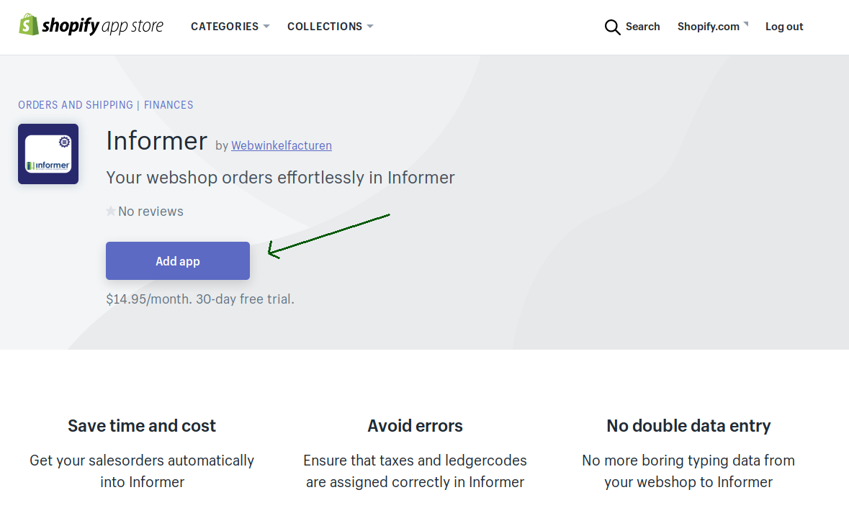 Shopify Appstore Informer